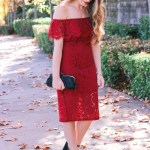 Off the Shoulder Holiday Dress (for under $30)