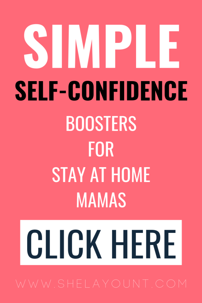 Simple self-confidence boosters for stay at home mamas | Do you ever wish you had more self-confidence? As a mama, I totally relate to dwindling self-esteem and zero confidence. It really starts to weigh on you, especially in the way you parent and love on your family. Click through to read a few of my favorite ways to boost my self-confidence!