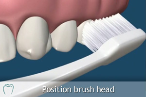 Position the Toothbrush
