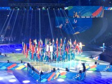 All of the Countries Flags that attended the games