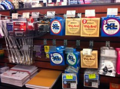 The fact that these were in the campus bookstore...