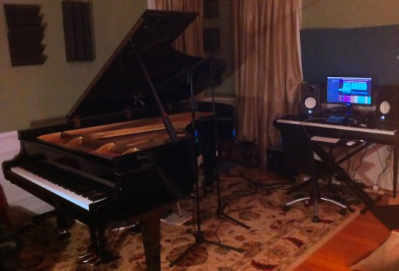 Back in the studio working on my second piano album!