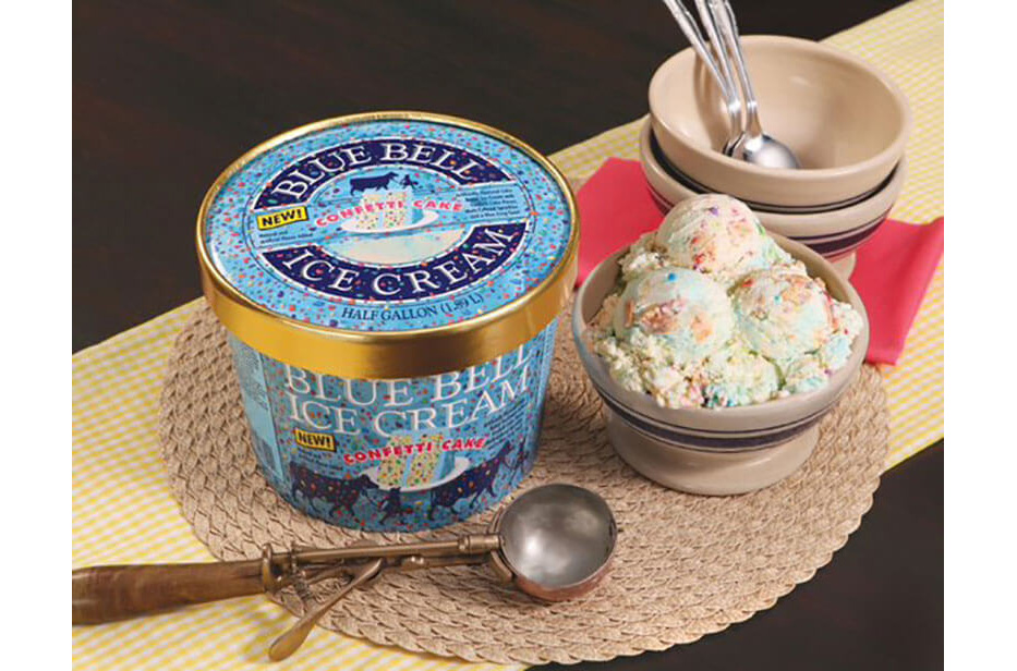 Confetti Cake Ice Cream From Blue Bell Now In Stores