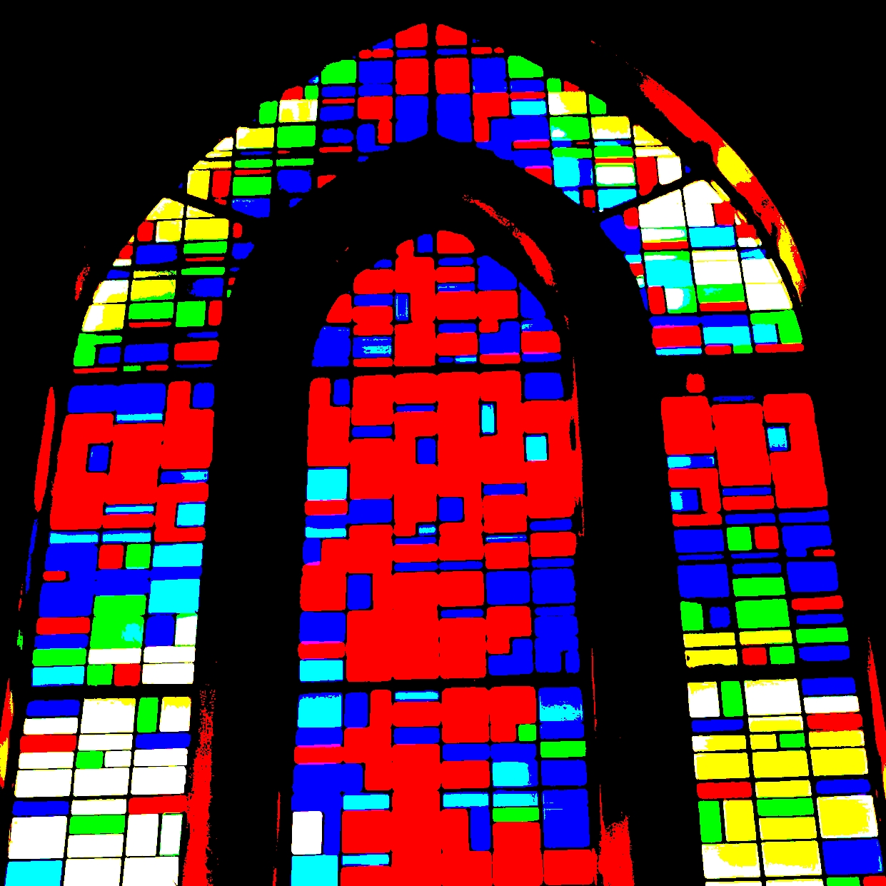 stained glass at night