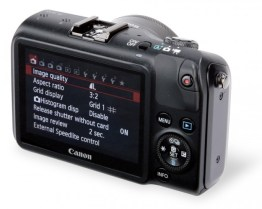 Back View of Canon EOS M