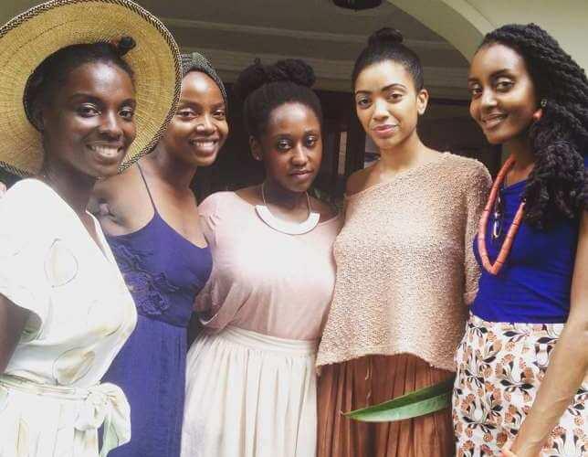 an african city friends