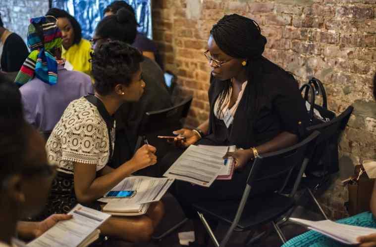 Team work at She Hive NYC