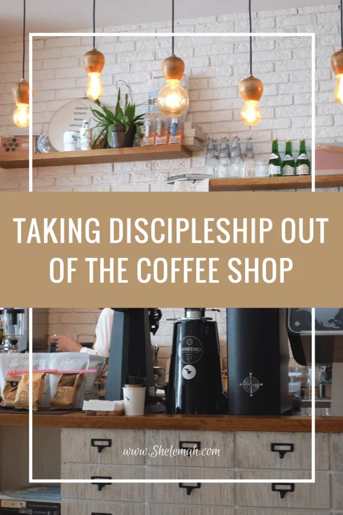 Trying to find a more life on life approach to discipleship? Learn how to take the conversations out of the coffee shop. #discipleship #biblestudy