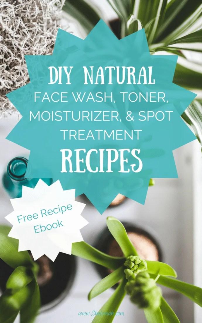 Recipes for DIY natural face wash, toner, and moisturizer using essential oils #diy #naturalskincare