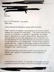 chemist letter