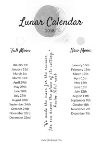 Learn the importance of the lunar calendar and get a free printable 2018 lunar calendar #lunarcalendar #printable
