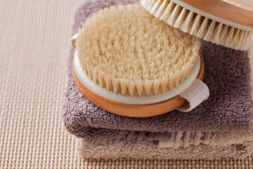 brush for dry body massage - beauty treatment