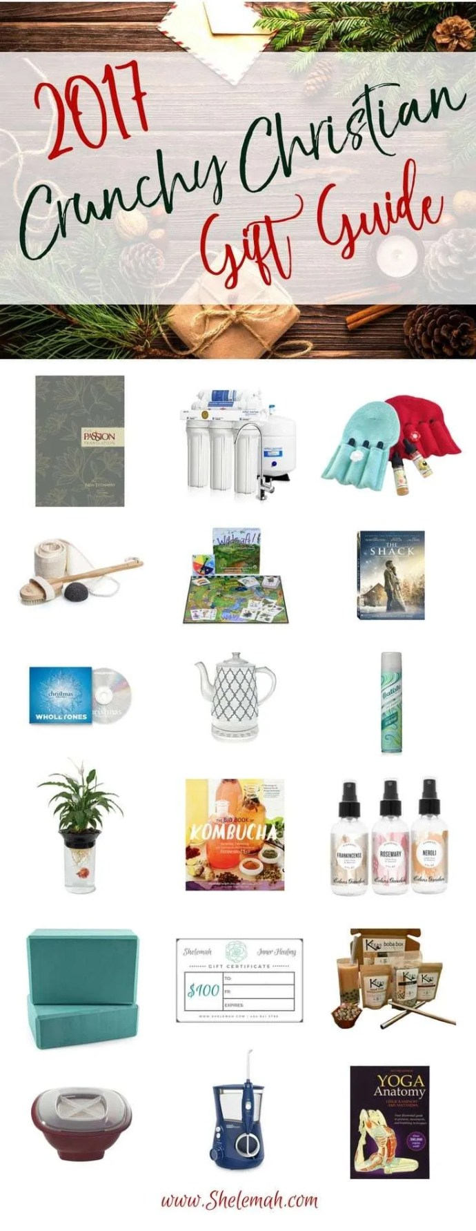 Crunchy Christian Gift Guide - all the best gift ideas for the alternative and holistic health, organic, granola loving ladies on your list. #giftguide