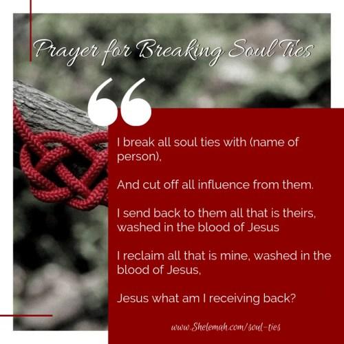 Prayer for breaking soul ties