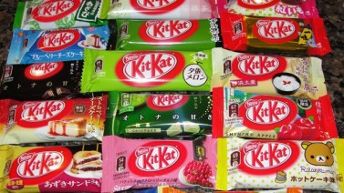 Japan has a love of sweets (and many Japanese will tell you American sweets are too sugary). There's a KitKat Factory (a small boutique shop, really) in the basement of Ikebukuro station where you can try a bunch of different flavors. Matcha, Sweet Potato, and Cheesecake are always a safe bet, and Wasabi (yes, that's right) is surprisingly not offensive to the tastebuds. Myfatpocket.com