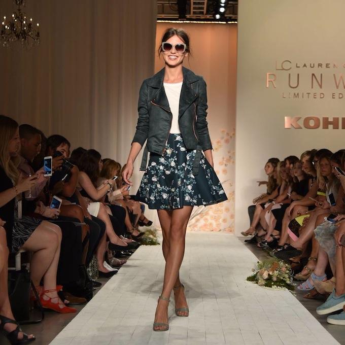 861a312c12f3 lc lauren conrad floral skirt · Faux-Suede Moto Jacket | Lace-Trim Top |  Floral Scuba Skirt | Ankle Strap Heels