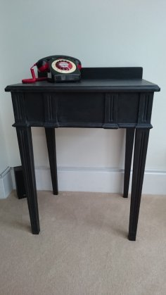 Black Art Deco Telephone Table, £70