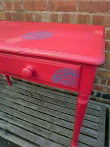 Red Shabby Chic Dahlia Desk, £149