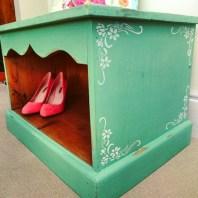 Shabby Chic Stencil Shoe Box, £59