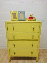 Yellow Vintage Chest of Drawers, £200