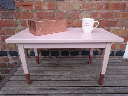 Pink and Copper Coffee Table