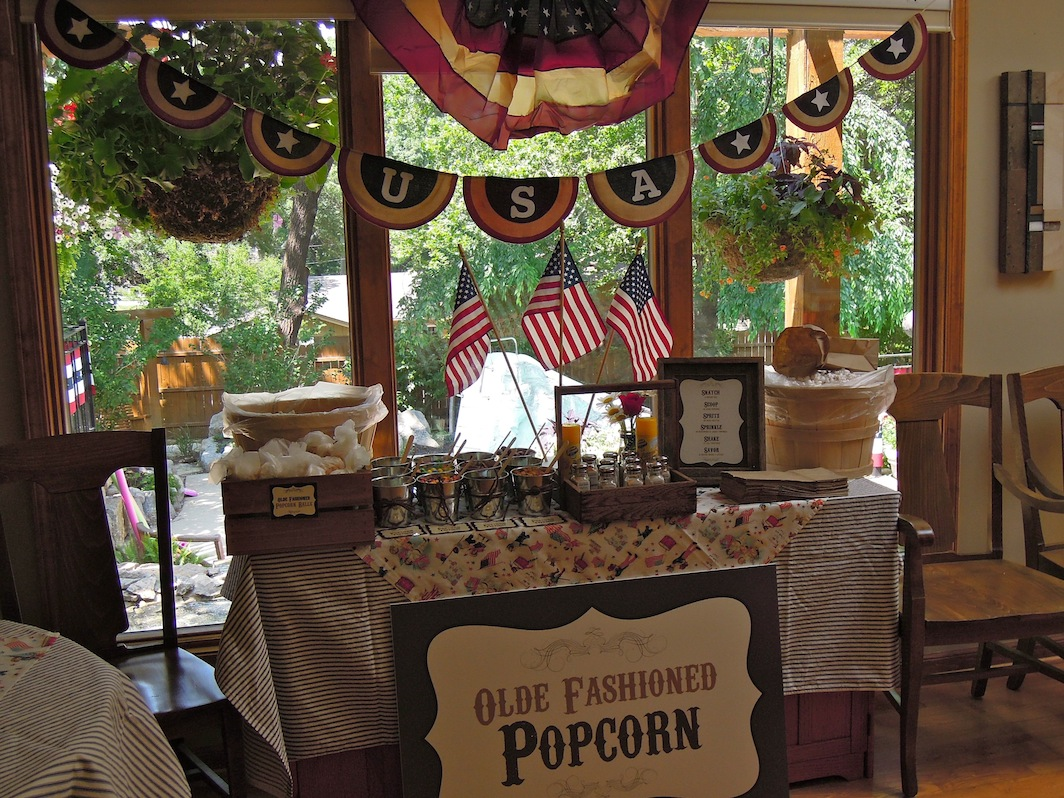 Popcorn Bar And Fourth Of July Chocolate Covered Oreos