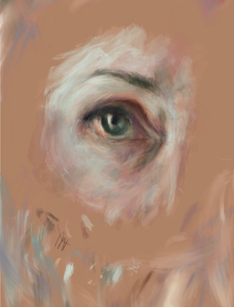 Painting an eye study in Procreate on the iPad Pro