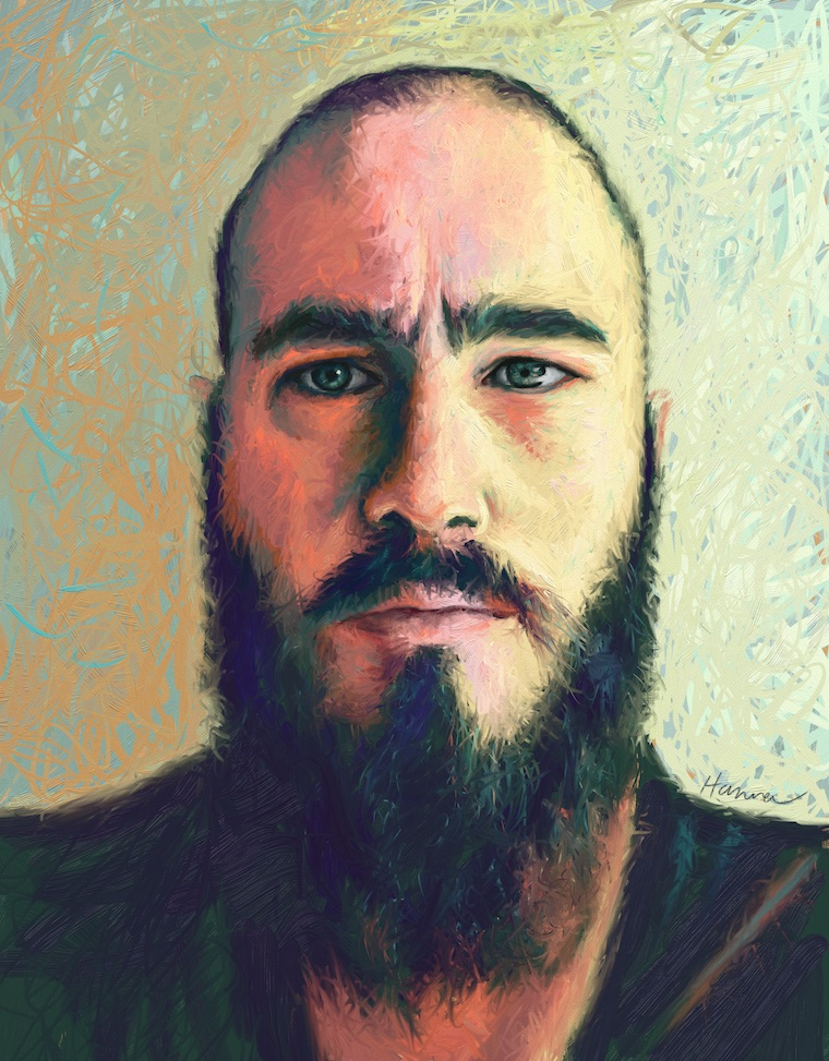 day1 portrait painting challenge