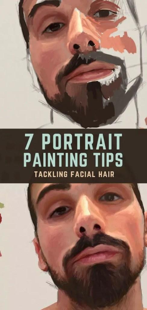 portrait tip facial hair pin