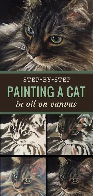 prescott pin 2 cat portrait painting