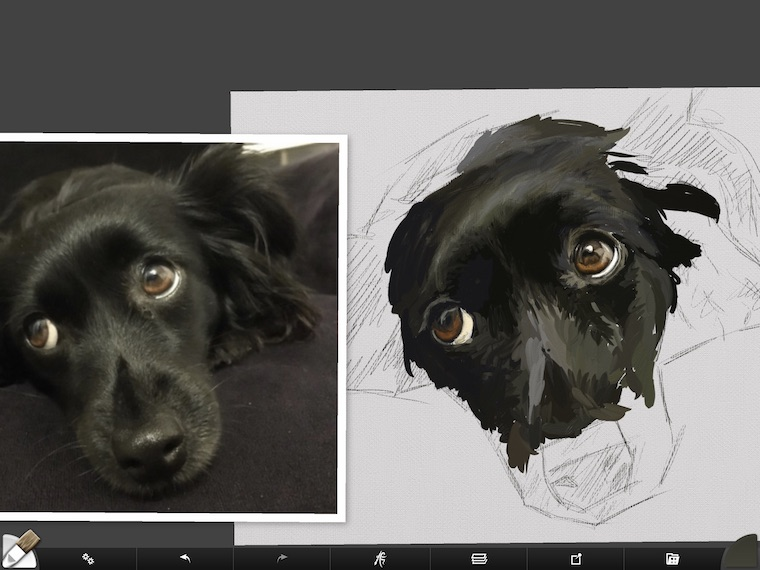 step 5 8 tips for painting black fur traditional and digital ArtRage step-by-step tutorial