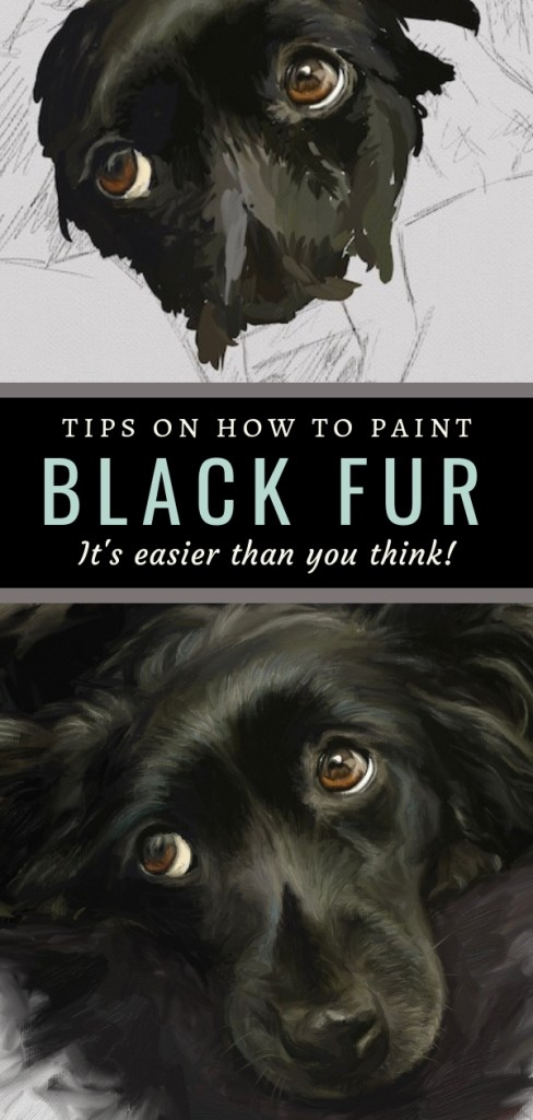 8 tips for painting black fur traditional and digital artrage pin 2 step-by-step tutorial