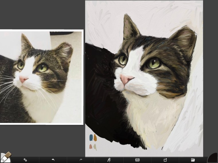 Cat digital painting tutorial step 10 monotony of middle