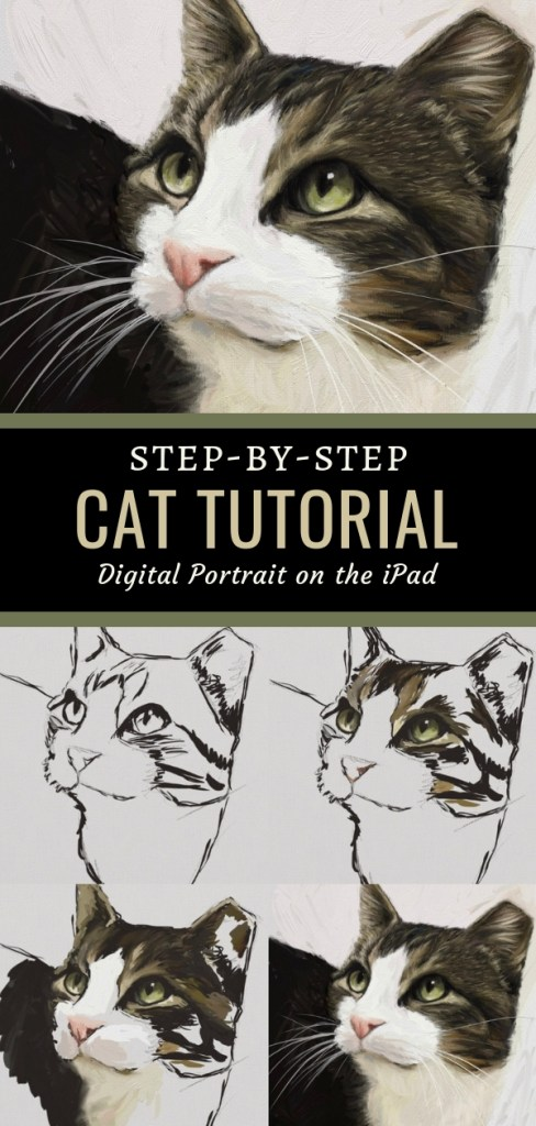 Tippy Cat Art Tutorial Pin 1