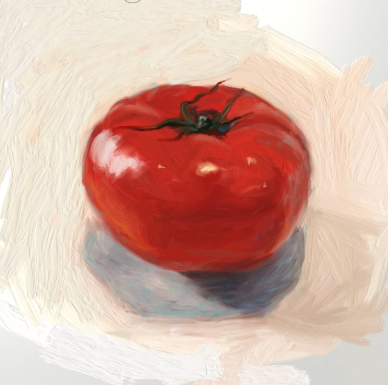 12 how to paint tomato bacground adjustment
