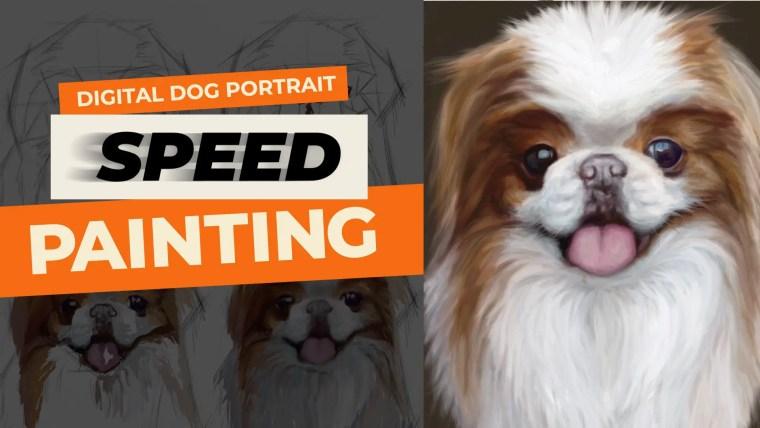 Digital dog portrait YouTube