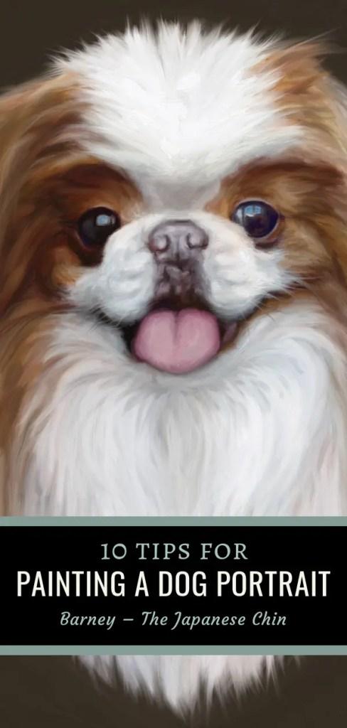dog painting pin close up