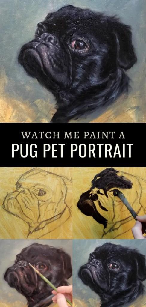 pug pin 3 pet portrait