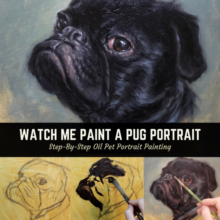 pug portrait painting title 2
