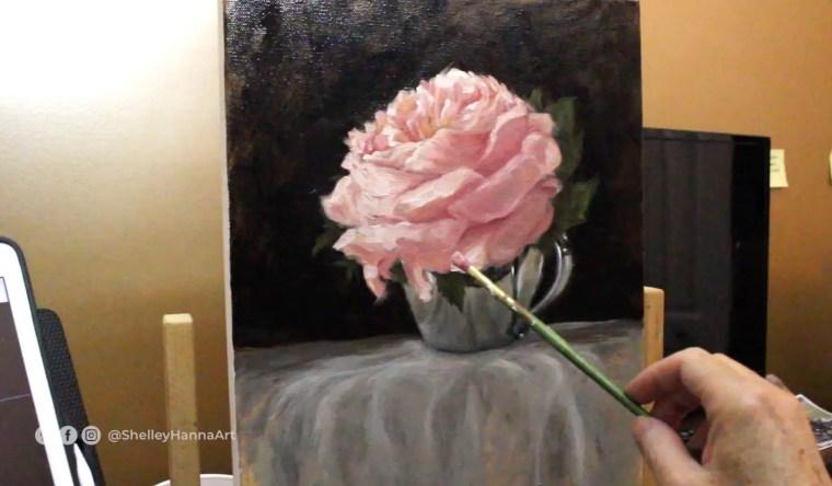 flower painting highlights petals 9
