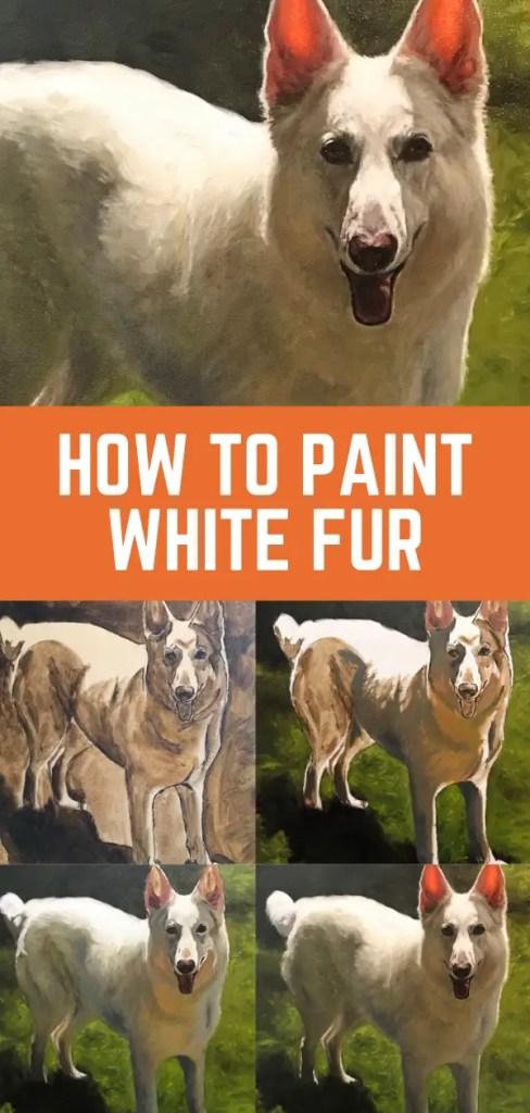 paint white fur pin 1