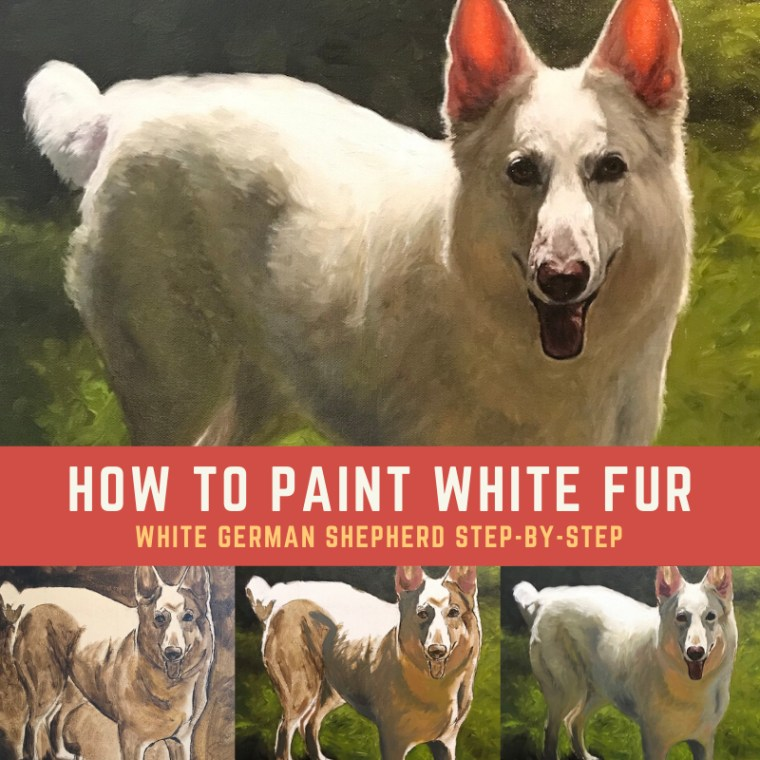 how to paint white fur step by step title