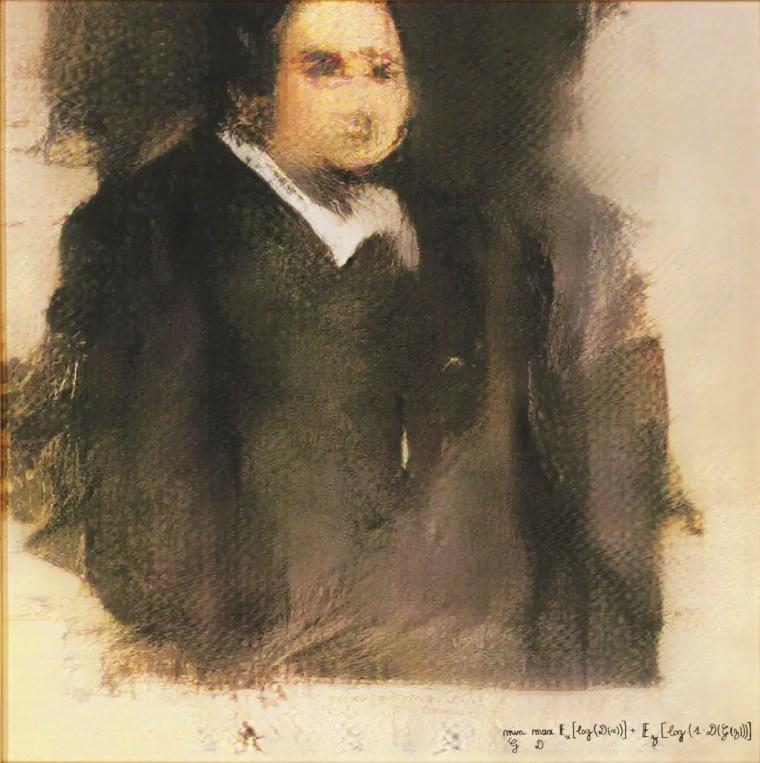 Portrait of Edmond Belamy (GAN)