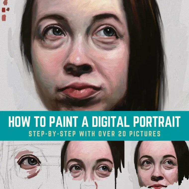 Digital portrait painting title card