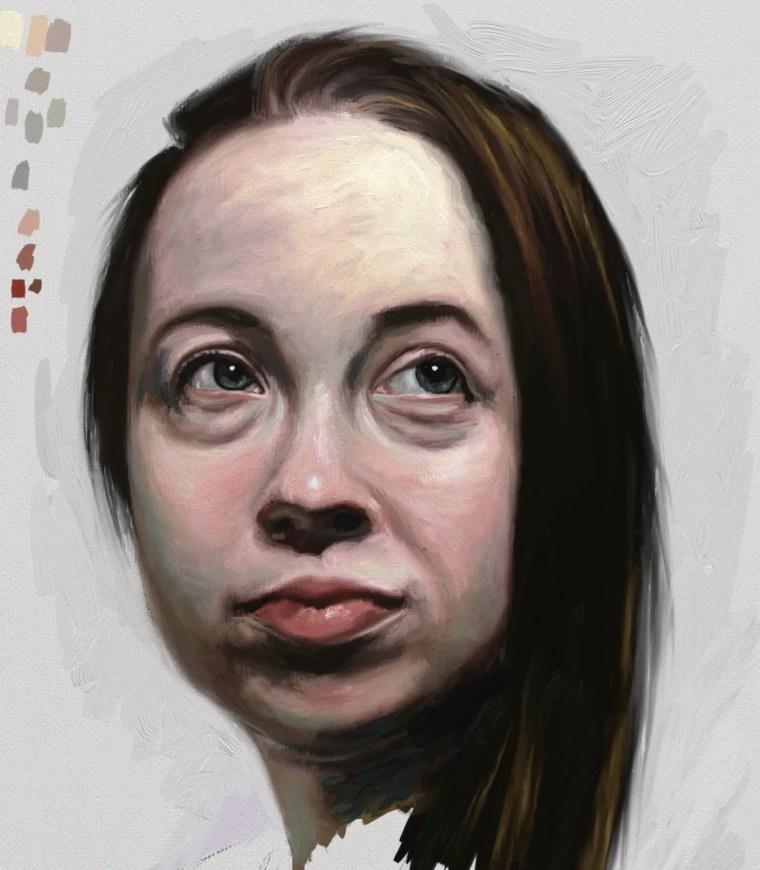 Finished digital portrait study