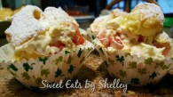 Strawberry & Vanilla Cream Filled Cream Puffs