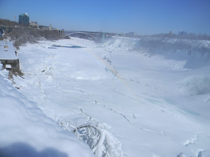 A view up the gorge to the American Falls