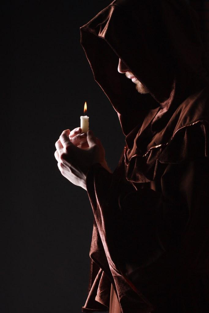 mysterious Catholic monk