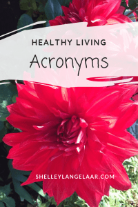 Healthy Living acronyms to Motivate
