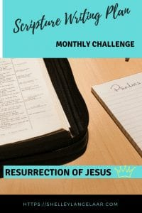 Scripture writing challenge April resurrection